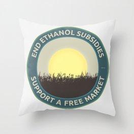 End Ethanol Subsidies Throw Pillow