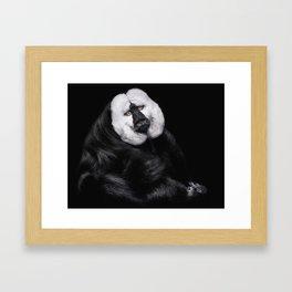 The beggar monkey Framed Art Print