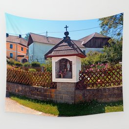 Wayside shrine in summertime | architectural photography Wall Tapestry
