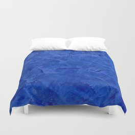 Dark Blue Ombre Burnished Stucco - Faux Finishes - Venetian Plaster Duvet Cover