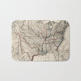 United States - Map including Louisiana - 1818 Bath Mat