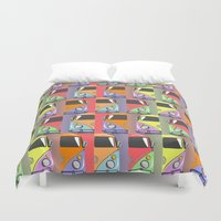 cars Duvet Covers featuring cars by mark ashkenazi