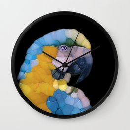 Colorful Glass Parrot Wall Clock