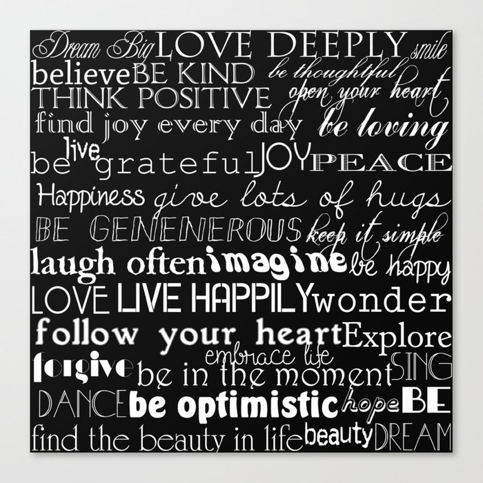 Inspirational Words Canvas Print By Joacreations Society60 Gorgeous Inspirational Words