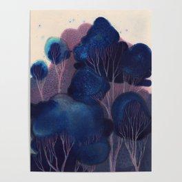 Blue Woodland Poster