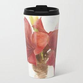 Double Amaryllis Travel Mug