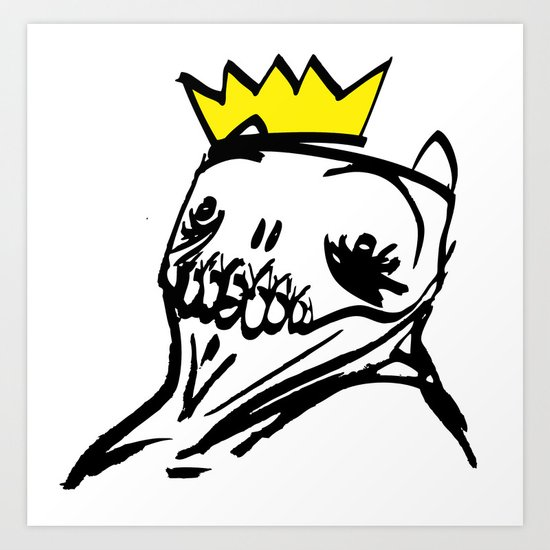 King Cat Creature Art Print