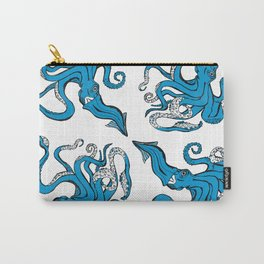 Sea-life Collection - Octopus - Ocean-Blue Carry-All Pouch