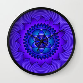 Hypnotic mandala Wall Clock