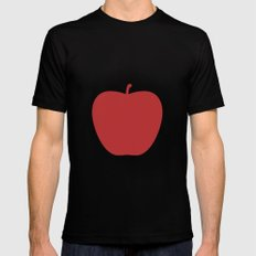 Apple 27 Black MEDIUM Mens Fitted Tee