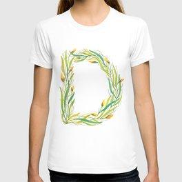 Leafy Letter D T-shirt