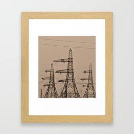 The Pylon Army Framed Art Print