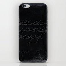 vintage stone throw deep board script texture iPhone & iPod Skin