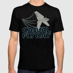 Casual Fly Day Black Mens Fitted Tee MEDIUM