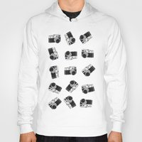 cameras Hoodies featuring little cameras by Alice Dol