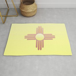 Flag of new mexico  -with color gradient Rug