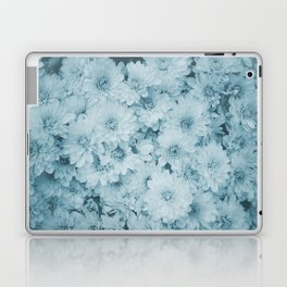 photography and illustration of daisy flowers in turquoise perfect for clothes, gifts, products. Laptop & iPad Skin