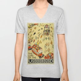 Vintage poster - London Underground Unisex V-Neck