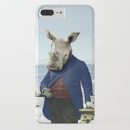 Mr. Rhino's Day at the Beach iPhone Case