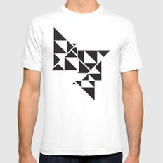 Triangle Angles Mens Fitted Tee White SMALL