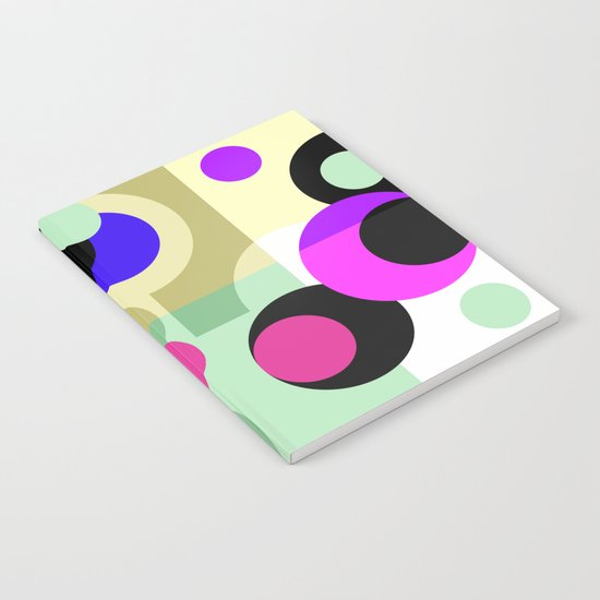 Colorful geometric pattern with polka dots . Notebook