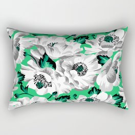 Mount Cook Lily - Green/White Rectangular Pillow