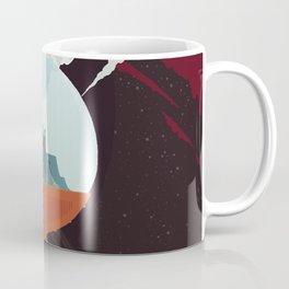 Retro Space Poster -enceladus Coffee Mug