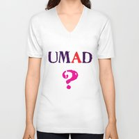 mad V-neck T-shirts featuring mad? by snorkdesign