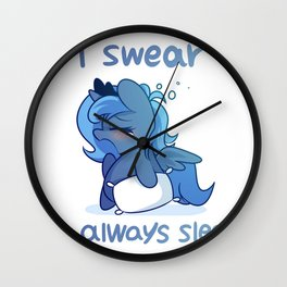 i swear i'm always sleepy Wall Clock