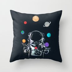 Space Circus Throw Pillow