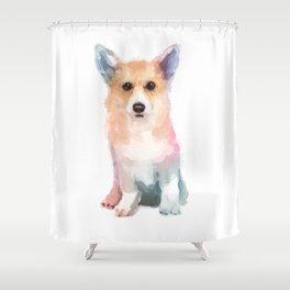 Corgi watercolor Shower Curtain