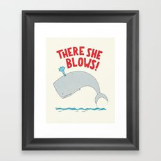 There She Blows! Framed Art Print