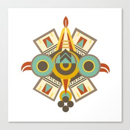 Aztec - Symbol of Ollin Canvas Print
