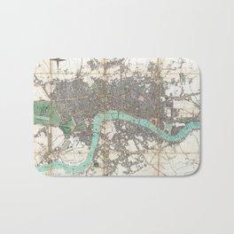 Vintage Map of London England (1806) Bath Mat