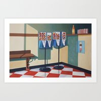 gumball Art Prints featuring Gumball Machines  by Lety Garcia