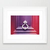 door Framed Art Prints featuring Door by Elsa Harley