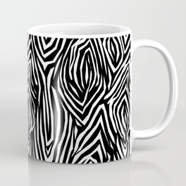Black and white abstract pattern. Zebra . Coffee Mug