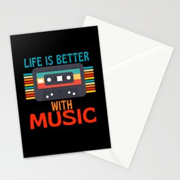 Life Is Better With Music  Cassette Stationery Cards