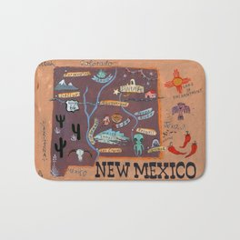 New Mexico map Bath Mat