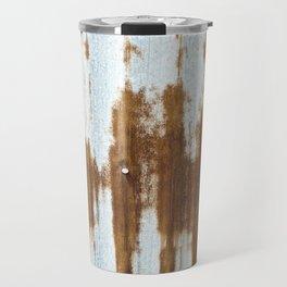 Rusted Corrugated Tin rustic decor Travel Mug