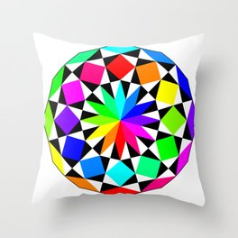 Dodecagon September 10 2017 Throw Pillow