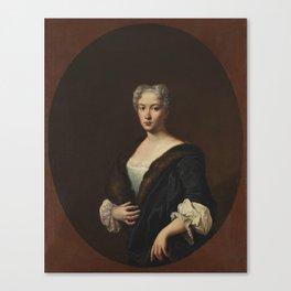 Portrait of a Woman ca. 1740 - 1742 Giacomo Ceruti Canvas Print