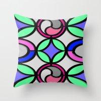 mosaic Throw Pillows featuring Mosaic by Elena Indolfi