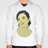 emma watson Hoodies featuring Emma Watson funny face by Esther Cerga