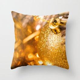 Golden Cheer I Throw Pillow