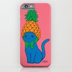 Blue Cat Wears Pineapple Hat iPhone 6 Slim Case