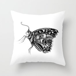Pretty Fly For A Butterfly Throw Pillow