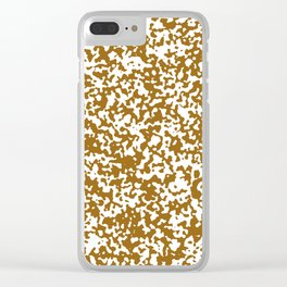 Small Spots - White and Golden Brown Clear iPhone Case