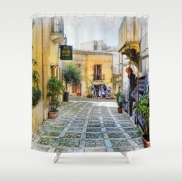 Erice art 3 Shower Curtain
