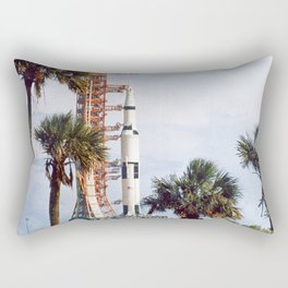 Apollo 8 - Tropical Launch Pad Florida Rectangular Pillow
